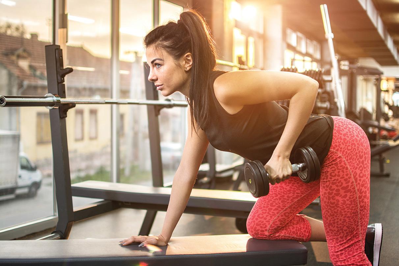 Marbella Rocks woman in the gym